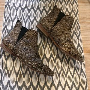 Madewell calf hair booties size 8.5